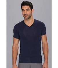 Calvin Klein Underwear Body Micro Modal S S V Neck U5563 Blue Shadow Men's Short Sleeve Pullover