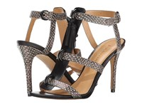 Enzo Angiolini Leluna Black White Multi Leather High Heels