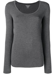 Majestic Filatures Longsleeved Fitted Top Grey