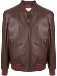 Gieves And Hawkes Leather Bomber Jacket 60