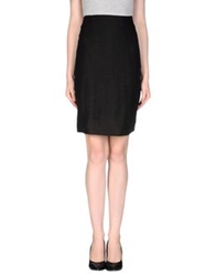 Laura Urbinati Knee Length Skirts Black