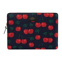 Wouf Cherries Laptop Case Black Red