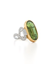 Fred Leighton Peridot And Diamond Ring Yellow