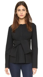 Cedric Charlier Long Sleeve Top Black
