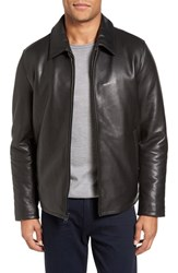 Vince Camuto Men's Leather Zip Front Jacket
