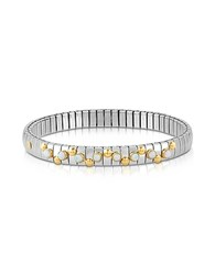 Nomination Golden Stainless Steel Women's Bracelet W White Opal Beads Silver