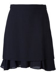 Carven Layered A Line Skirt Blue
