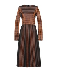 Devotion 3 4 Length Dresses Dark Brown