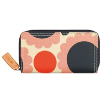 Orla Kiely Scallop Flowers Zip Around Purse Pink Multi
