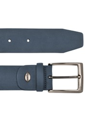 Manieri Men's Blue Nubuk Belt