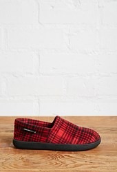 Forever 21 Woolrich Potter County Slippers Red Black