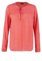 Gap Fem Popover Tunic Red Floral
