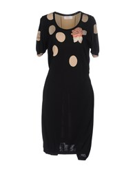 Via Delle Perle Vdp Club Knee Length Dresses Black
