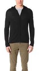 Theory Aires Kamero Cashmere Zip Hoodie Black