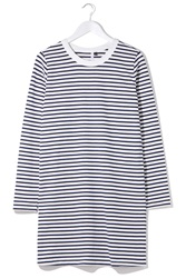 Striped Long Sleeve Tee Dress By Boutique Stripes
