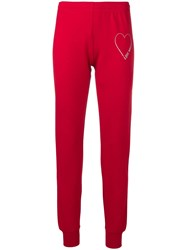 Love Moschino Heart Logo Track Pants Red