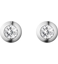Georg Jensen Aurora 18Ct White Gold And Diamond Earrings