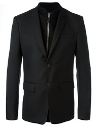 Givenchy Sweatshirt Detail Blazer Black