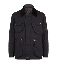 Hackett Cadwell Waxed Outdoor Jacket Male Navy