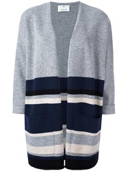Allude Loose Fit Knit Poncho Grey