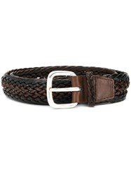 Orciani Braided Belt Brown