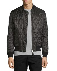 Burberry Grandy Lightweight Quilted Bomber Jacket Black
