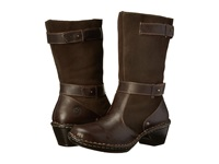 Lobo Solo Rose Wide Calf Chocolate Leather Women's Wide Shaft Boots Brown