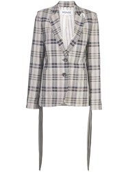 Monse Vintage Plaid Blazer Grey