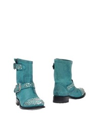 Sendra Ankle Boots Turquoise