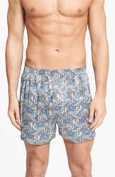Majestic International 'Cypress' Silk Boxers Sky Blue