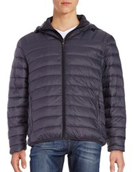 Hawke And Co Packable Down Puffer Hooded Coat Graphite