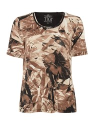 Tigi Short Sleeve All Over Print Top Brown