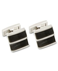 Ryan Seacrest Distinction Men's Cats Eye Cuff Links Created For Macy's Silver Grey