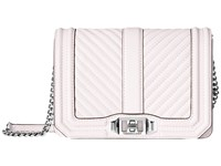 Rebecca Minkoff Chevron Quilted Small Love Crossbody Optic White Cross Body Handbags