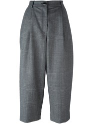 Dolce And Gabbana Wide Leg Cropped Pants Grey