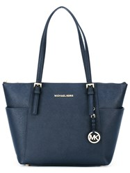 Michael Kors Jet Set Top Zip Tote Blue
