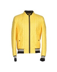 Roberto Cavalli Coats And Jackets Jackets Men Yellow