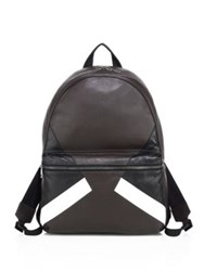 Neil Barrett Retro Modernist Calf Leather Backpack Black