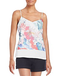 French Connection Floral Print Tank White Multi