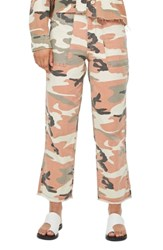 Topshop Sonny Camouflage Trousers Rust Multi