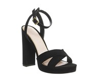Office Nickle Two Part Platform Heels Black