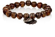 Miracle Icons Bronzite Bead And Charm Bracelet Brown