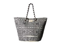 Roxy Sunseeker Tote Marshmallow Tribal Vibes Stripe Bags Gray