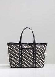 Pierre Hardy Polycube Canvas Cube Tote Black White Black
