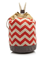 Toms Backpack Reef Chevron Canvas Drawstring Chili