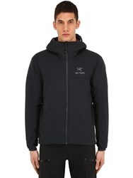 Arc'teryx Atom Lt Hooded Nylon Jacket Black