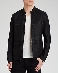 John Varvatos Usa Zip Moto Jacket Black