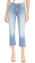 Mother Insider Crop Step Fray Jeans Shake Well