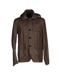 Blauer Coats And Jackets Jackets Men Dark Brown