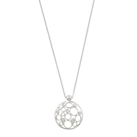 London Road 9Ct White Gold Diamond Bubble Pendant